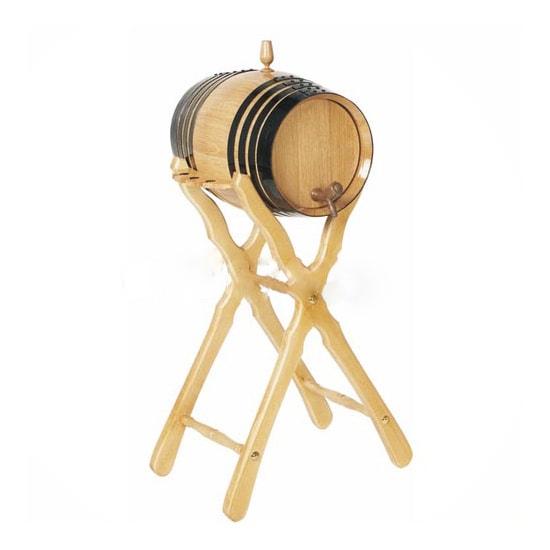 barril roble 4l con pie alto copero